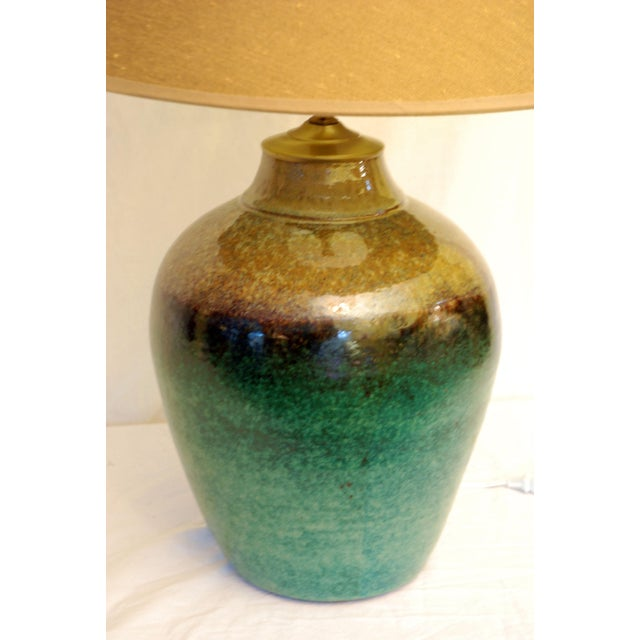 Viridian Pottery Table Lamp - Image 3 of 5
