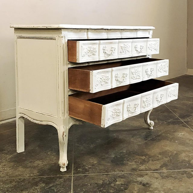 Antique Country French Provincial Painted Commode For Sale - Image 10 of 12