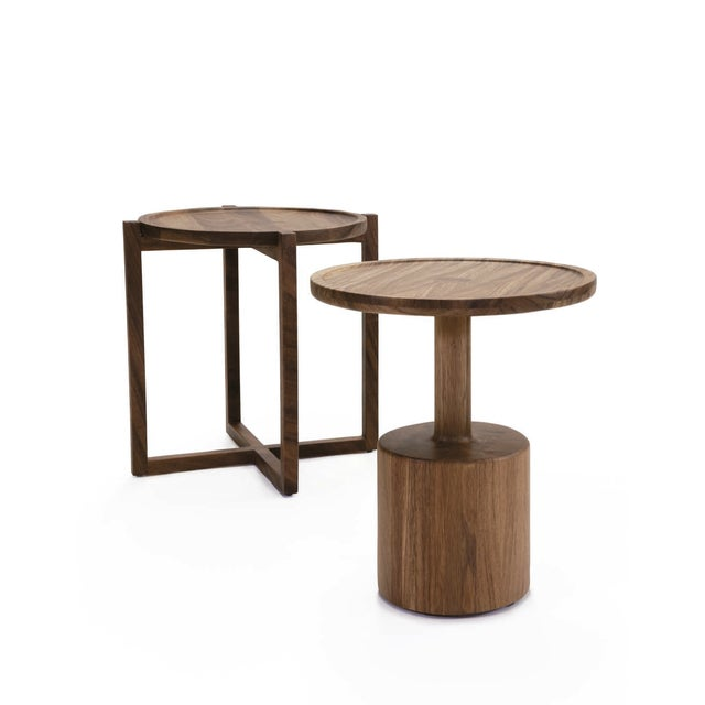 LABRICA Boton Three Side Table, Conacaste Solid Wood For Sale - Image 4 of 7