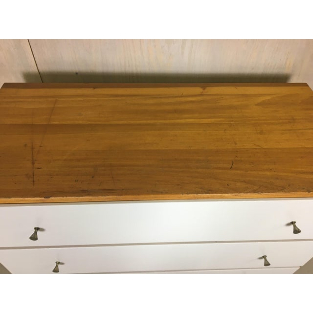 Pair of Paul McCobb Style Dressers with Painted Drawers - Image 6 of 7