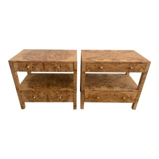 Made Goods Burlwood Nightstands - a Pair For Sale