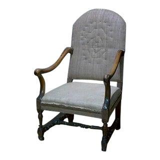 Mid 18th Century Italian Walnut Fauteuil Chair For Sale
