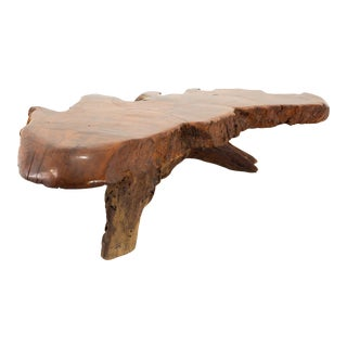 George Nakashima Style Mid Century Live Edge Coffee Table For Sale