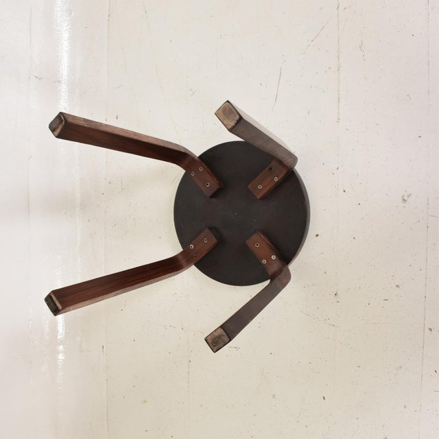 Artek Mid Century Danish Modern, Rare Rosewood Stool by Alvar Aalto for Artek For Sale - Image 4 of 7