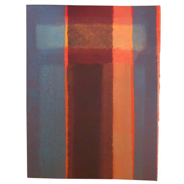1980s Vintage Mariko Nutt Abstract Monoprint For Sale