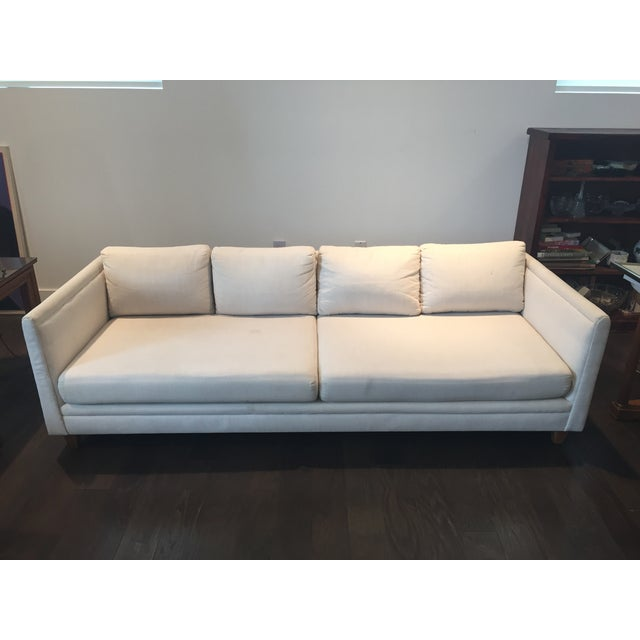 Baker Furniture Mid-Century Off-White Couch - Image 2 of 9