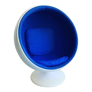 1980s Vintage Eero Aarnio Style Ball Chair For Sale