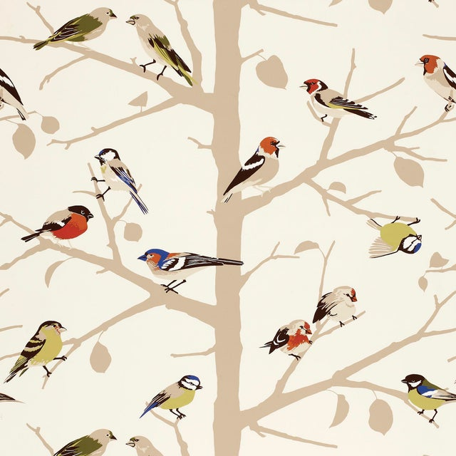 Contemporary Sample - Schumacher A-Twitter Wallpaper in Summer For Sale - Image 3 of 3