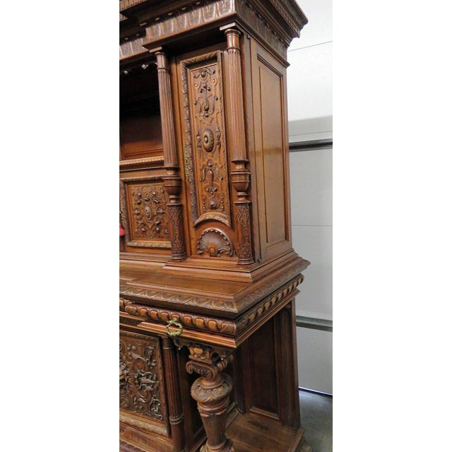 Renaissance Style Carved Cupboard For Sale In Philadelphia - Image 6 of 8