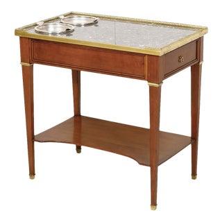 Antique French Louis XVI Style Mahogany Rafraichissoir Side Table For Sale