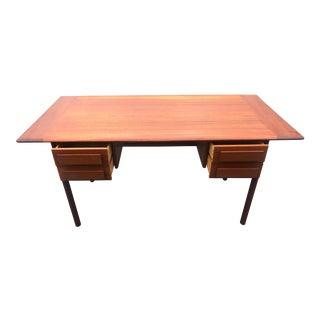1960s Mid Century Modern Teak Norwegian Arne Halforsen Writing Desk For Sale