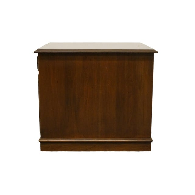 Brown Ethan Allen Georgian Court Solid Cherry Storage Accent Table For Sale - Image 8 of 12