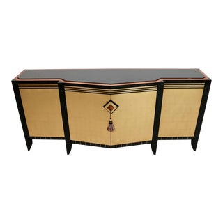 Contemporary Lee Weitzman Custom Chevron Buffet For Sale