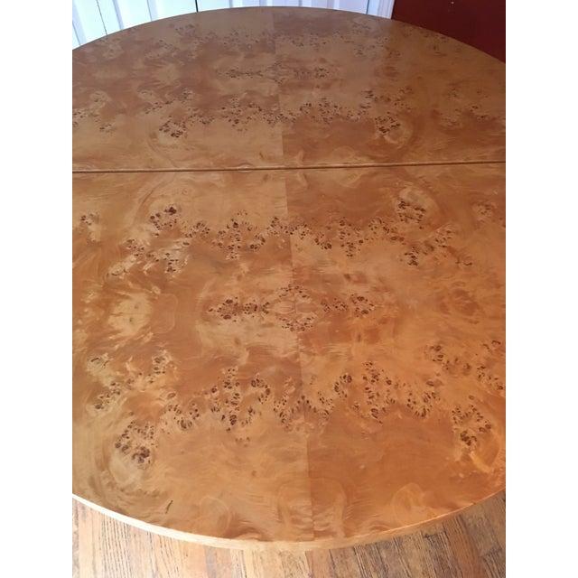 Mid-Century Milo Baughman Burled Wood Dining Table - Image 4 of 10