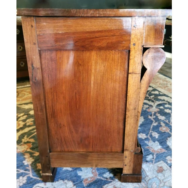 Metal French Walnut Chest of Drawers For Sale - Image 7 of 13