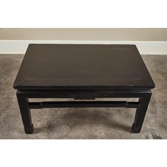 18th Century 18th C. Low Black Lacquer Kang Table For Sale - Image 5 of 8