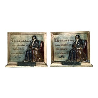 """Best Part of Education"" Walter Scott Bookends, Pair For Sale"