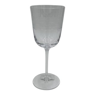 Michael Aram Palm Crystal Wine Glass For Sale