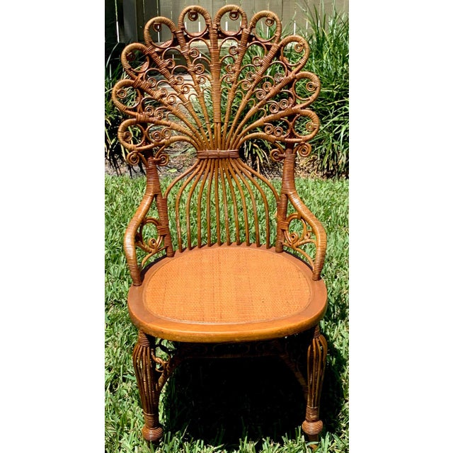 High Victorian Wicker Parlour Set - Set of 6 For Sale - Image 12 of 13