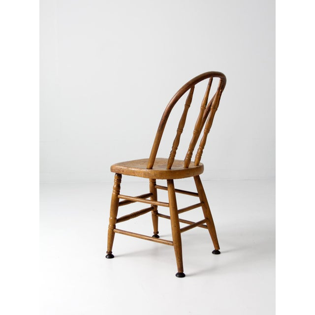 Antique Spindle Back Chair For Sale - Image 4 of 8 - Antique Spindle Back Chair Chairish