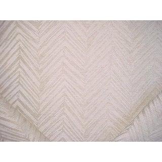 F Schumacher Belvoir Natural Herringbone Chevron Upholstery Fabric - 4 3/8 Yards For Sale