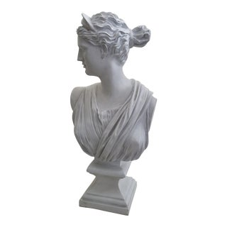 1980s Bust of Diana Sculpture For Sale