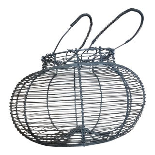 French Country Wire Egg Basket For Sale