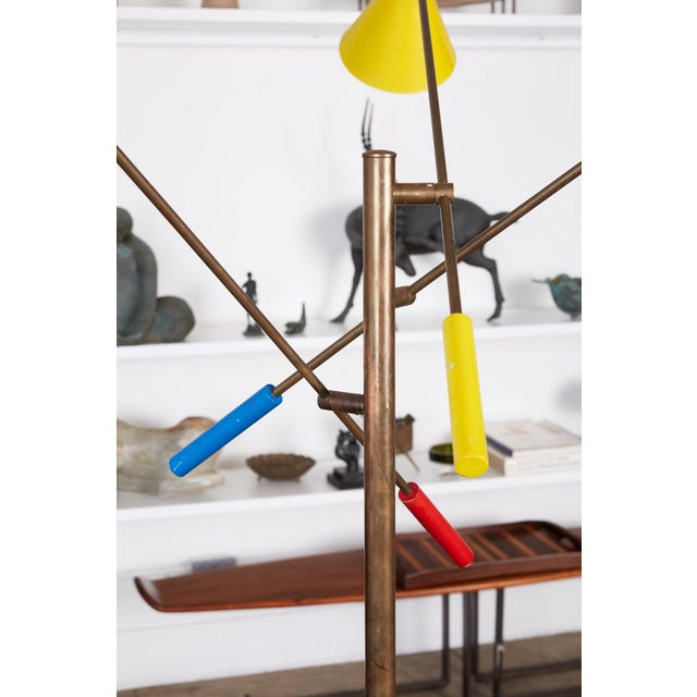 Paint Angelo Lelli Style Triennale Floor Lamp For Sale - Image 7 of 12