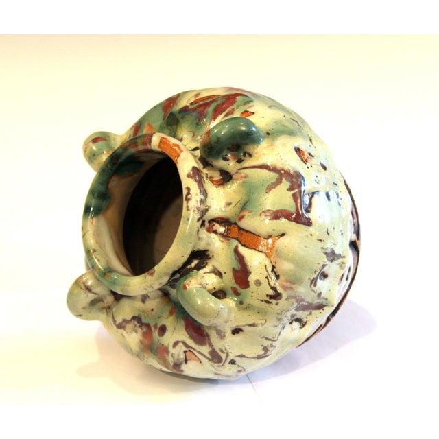 Awaji Pottery Manipulated Jar Gloppy Drip Glaze Zen Tea Ceremony Vase For Sale In New York - Image 6 of 12