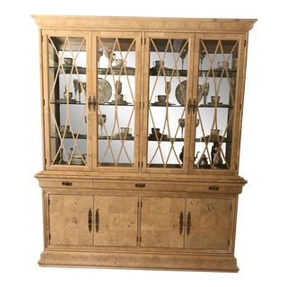 Henredon Charles X Burl Wood China Cabinet