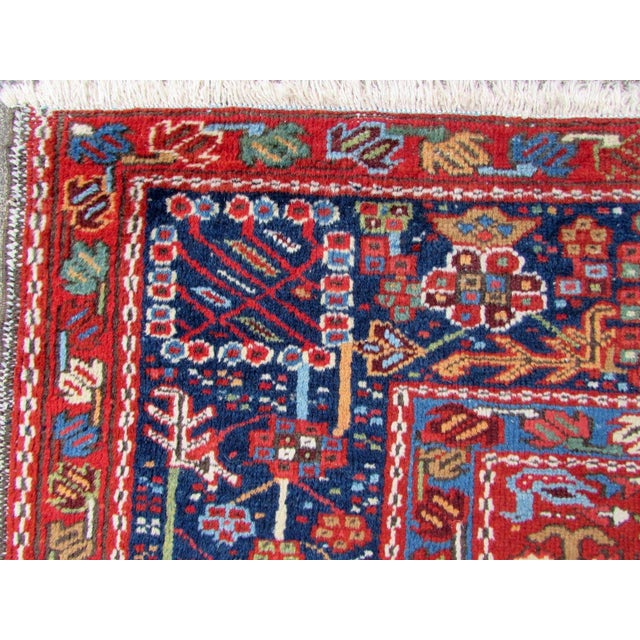 1920s, Handmade Antique Persian Heriz Rug 4.9' X 6.1' For Sale In New York - Image 6 of 11