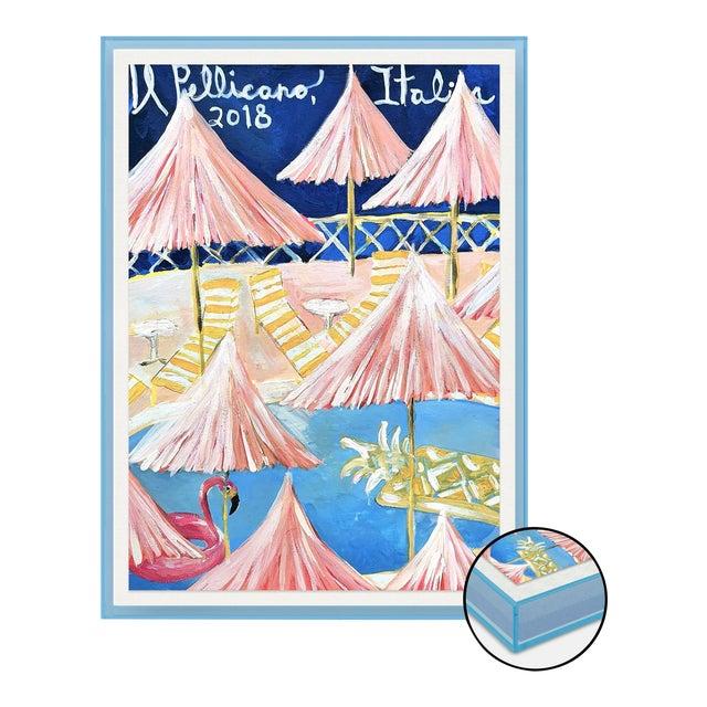IL Pelicano by Lulu DK in Light Blue Transparent Acrylic Shadowbox, Medium Art Print For Sale
