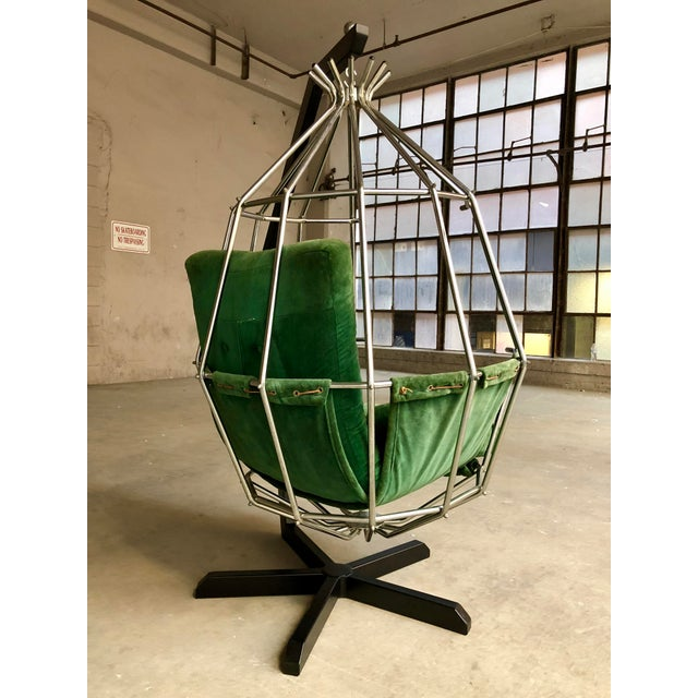 Mid Century Modern Ib Arberg Parrot Chair Hanging Birdcage Chair For Sale In Milwaukee - Image 6 of 13