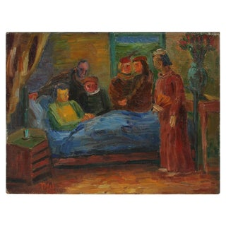 """Jennings Tofel """"Waiting Hours"""" Expressionist Bedroom Figures, 1941 1941 For Sale"""