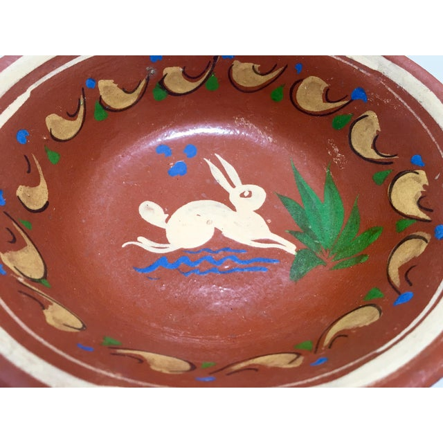 Redware Bowl With Rabbit - Image 5 of 5