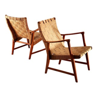 Elias Svedberg Pair of Chairs for Nordiska Kompaniet, Sweden, 1940s For Sale