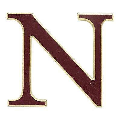 "Vintage Red & Gold English Pub Sign Letter "" N "" For Sale"
