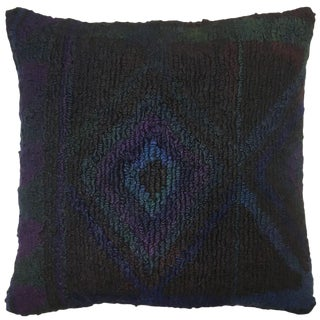 "Rug & Relic Blue Diamond Pillow | 24"" For Sale"