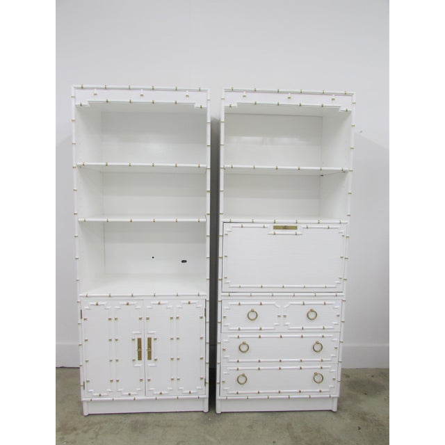 Pair of Omega Hollywood Regency Shelf and Secretary For Sale - Image 11 of 11
