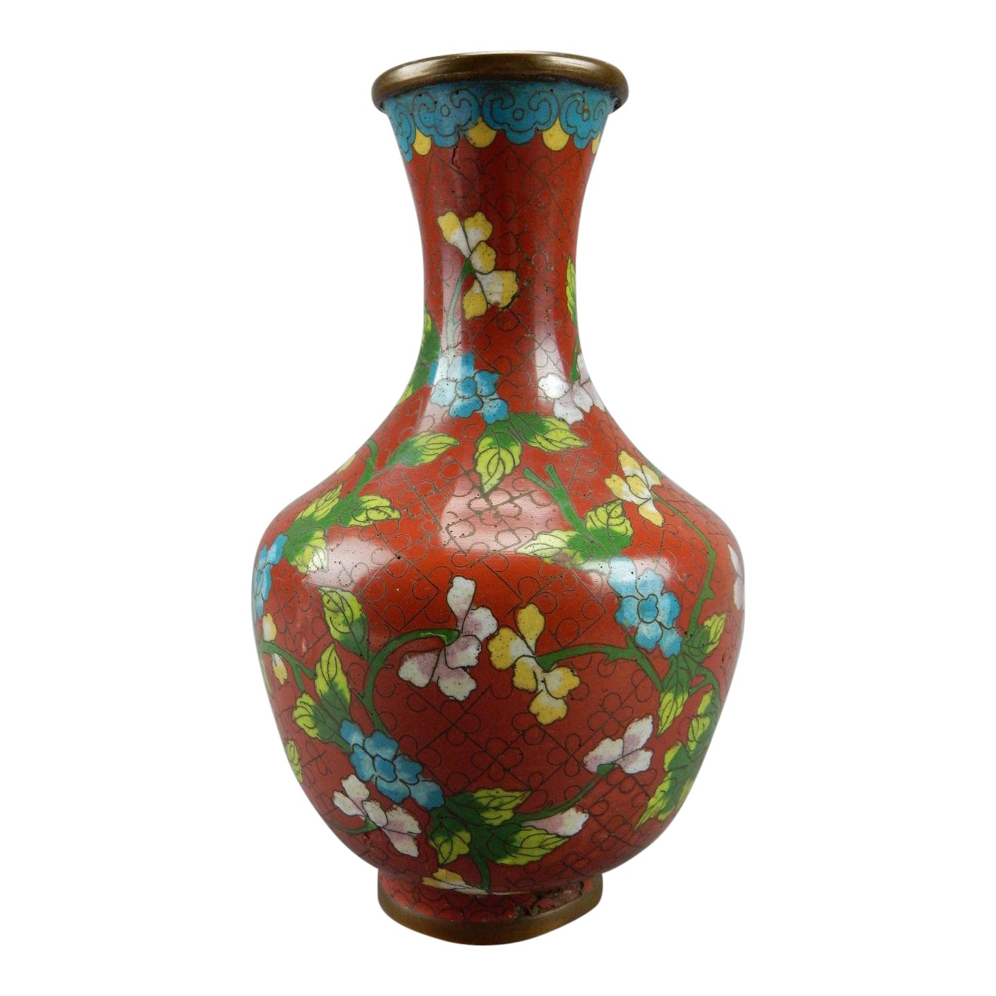 Antique Chinese Cloisonne Vase Chairish