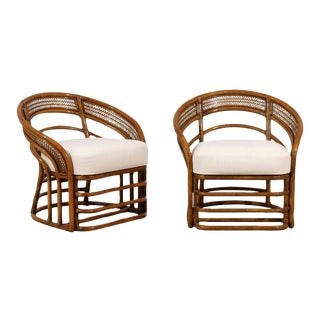 Fabulous Pair of Restored Rattan Chairs by Brown Jordan For Sale
