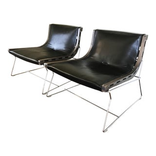 Early 21st Century Antonio Citterio for B & B Italia Paltrona J J Lounge Chairs - a Pair For Sale
