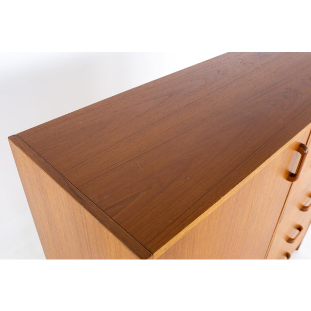 Wood Westnofa Style Mid Century Teak Gentlemans Chest Armoire For Sale - Image 7 of 12
