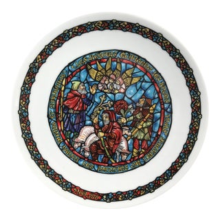 Decorative Limoges Porcelain Christmas Plate