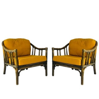 Pair of Vintage McGuire Lounge Chairs For Sale