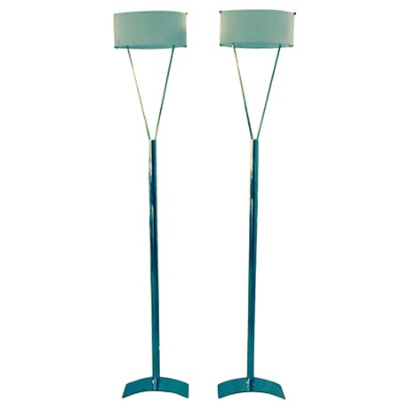 Italian Leucos Floor Lamps - Pair - Image 1 of 5