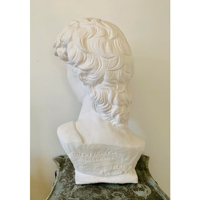 1990s Plaster Bust of David Sculpture For Sale In Minneapolis - Image 6 of 12