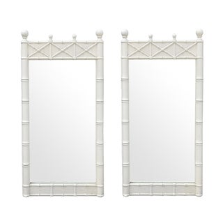 Regency Faux Bamboo Mirrors by Omega - A Pair