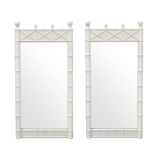 Regency Faux Bamboo Mirrors by Omega - A Pair - Image 1 of 2