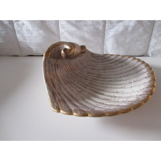 Mid-Century Modern Large Mid-Century Modern Shell Decorative Serving Dish For Sale - Image 3 of 7